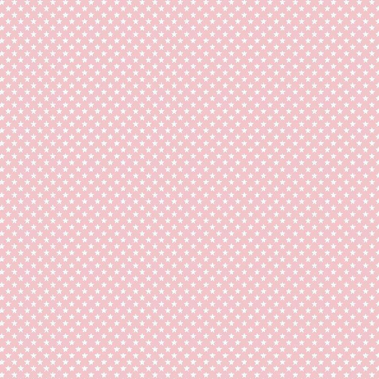 """Imagen del producto: Tela Poppy """"Estrellitas rosa"""", algodón - medio metro"""