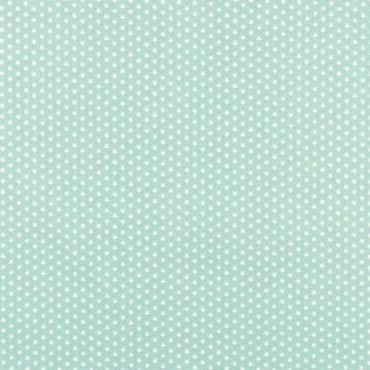 """Imagen del producto: Tela Poppy """"Estrellitas verde menta"""", algodón - medio metro"""