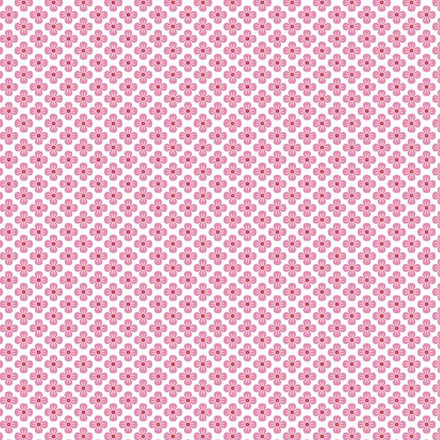 """Imagen del producto: Tela Poppy """"Flores japonesas rosa"""", algodón - medio metro"""