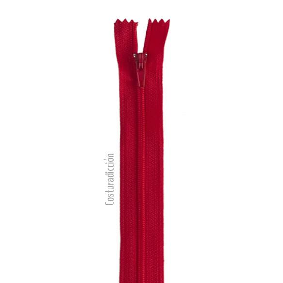 Imagen del producto: Cremallera roja de 15 cm