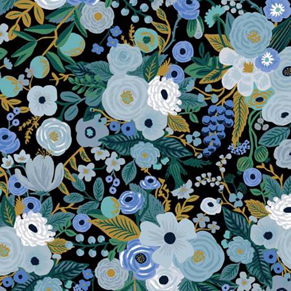 """Imagen del producto: Tela Rifle Paper  """"Garden party"""" azul, algodón  - medio metro"""