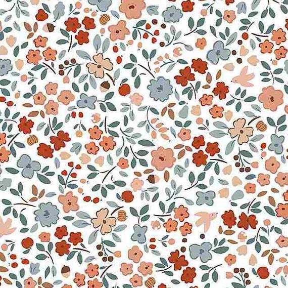 """Imagen del producto: Tela Dear Stella """"Country mouse"""" blanco, algodón - 50 x 55 cm"""