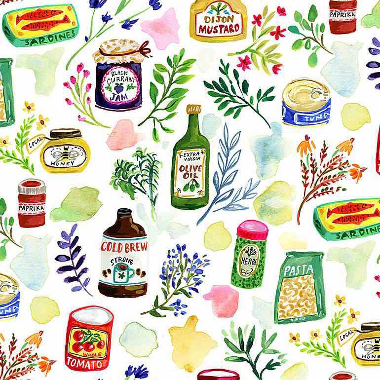 """Imagen del producto: Tela Dear Stella """"Chef's table, algodón - 50 x 55 cm"""