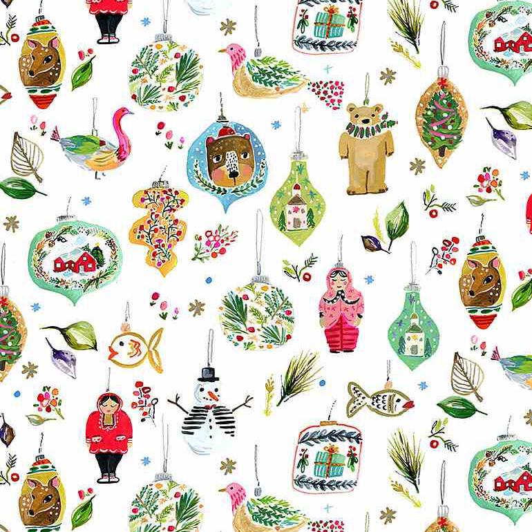 """Imagen del producto: Tela Dear Stella """"Love at frost side"""" ornamentos, algodón - 50 x 55 cm"""