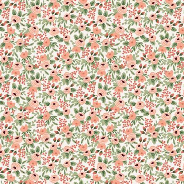 """Imagen del producto: Tela Rifle Paper  """"Garden Party"""" rosa, algodón  - medio metro"""