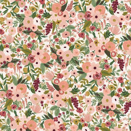 """Imagen del producto: Tela Rifle Paper """"Garden Party"""" rosa grande, algodón - 50 x 55 cm"""