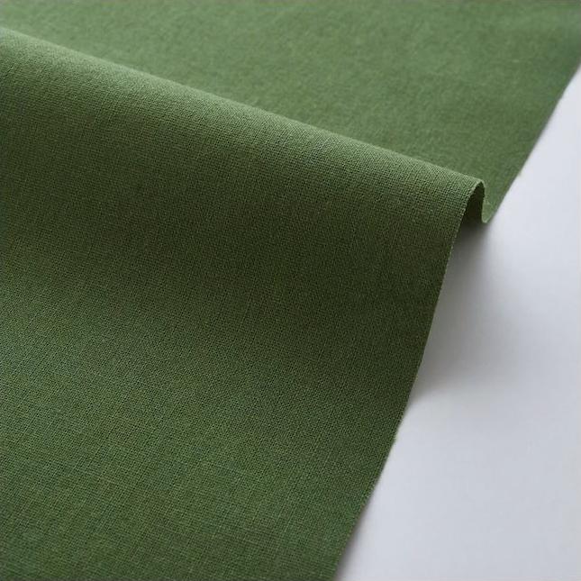 "Imagen del producto: Tela Kokka  ""Echino JG-95410-10C"" verde oliva, loneta - medio metro"