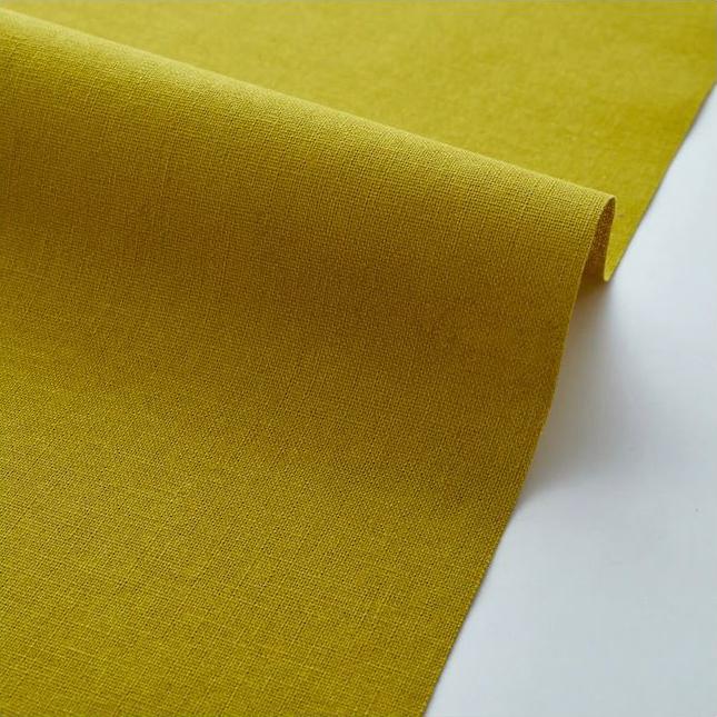 "Imagen del producto: Tela Kokka  ""Echino JG-95410-10E"" mostaza verdoso, loneta - medio metro"