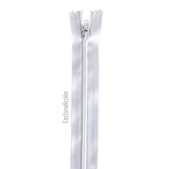 Imagen del producto: Cremallera blanca de 30 cm