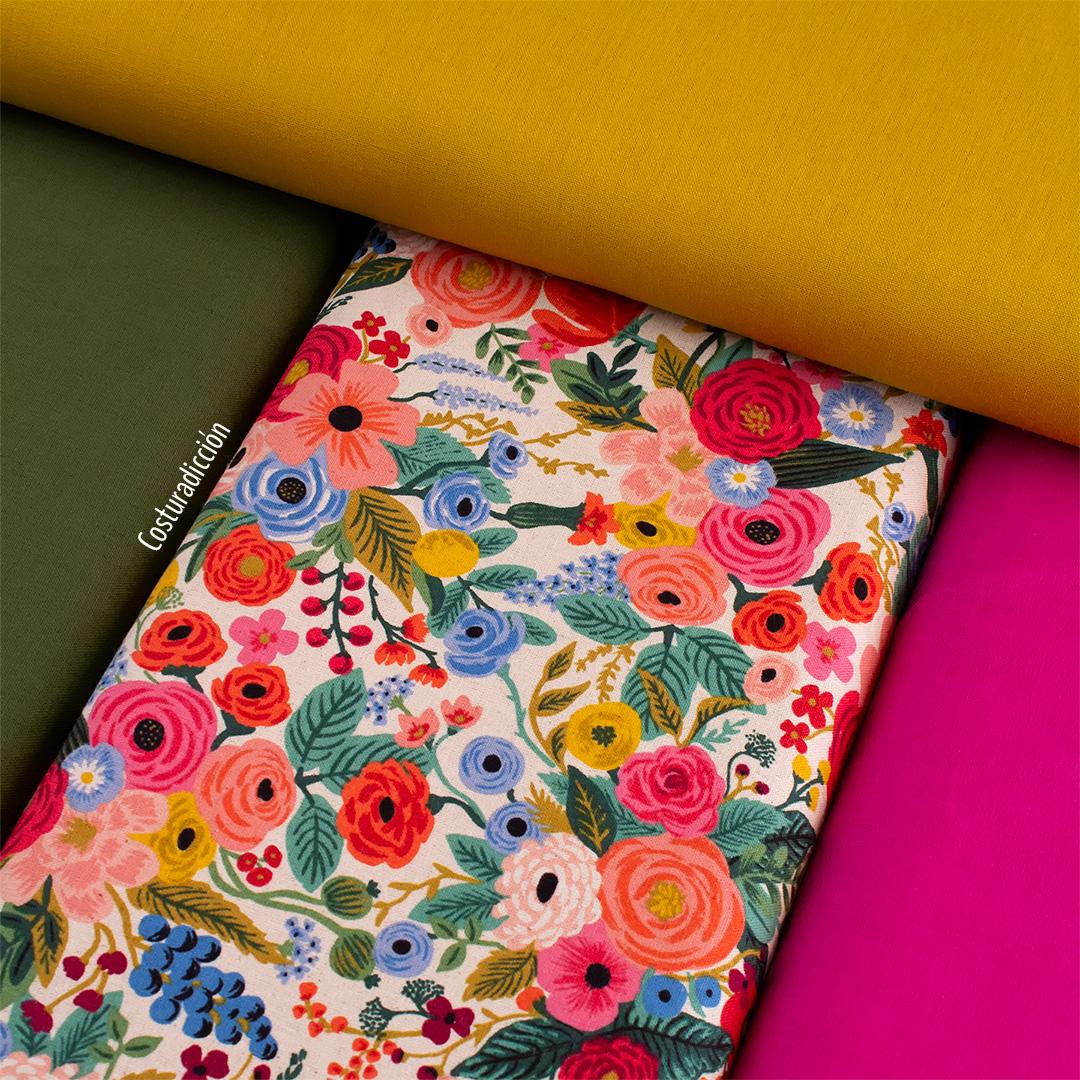 Imagen de producto: https://tienda.costuradiccion.com/img/articulos/secundarias13476-tela-rifle-paper-wildwood-garden-party-rosa-loneta-medio-metro-12.jpg
